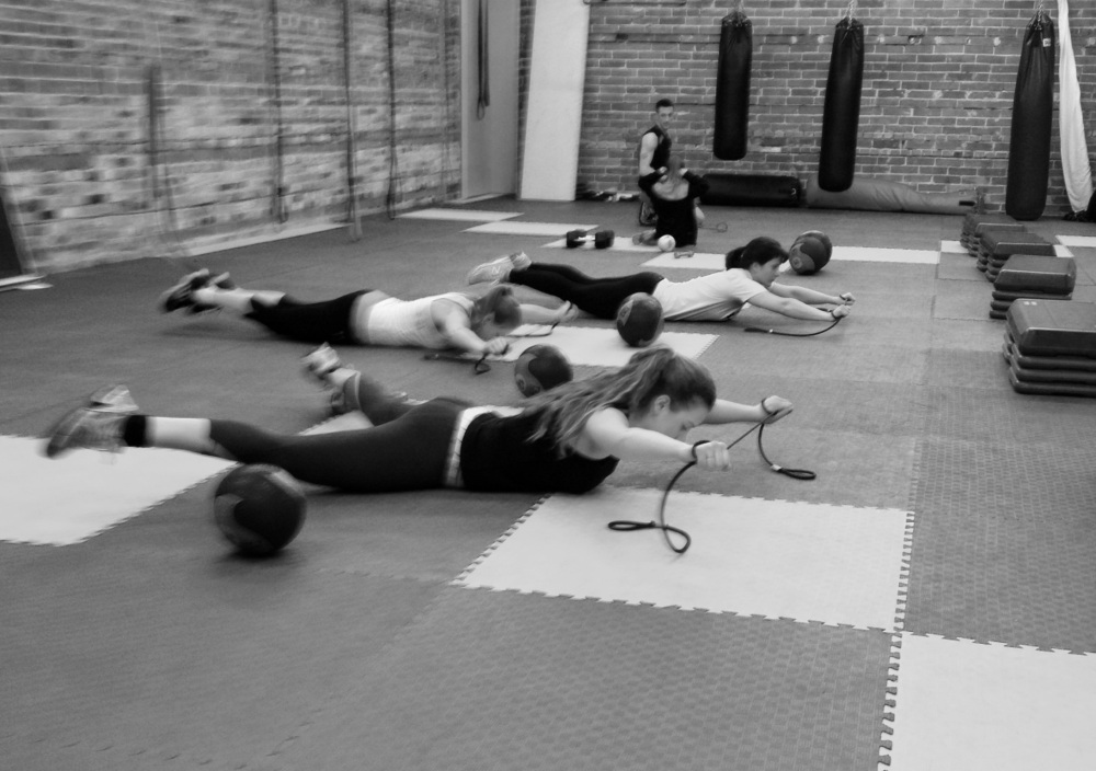 My regulars working through one of our total body strength days!